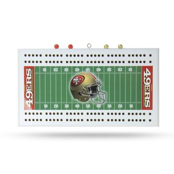 SF 49'ERS FIELD CRIBBAGE BOARD