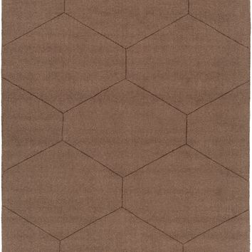 Surya Ashlee Solids and Tonals Brown ASL-1026 Area Rug