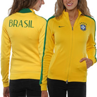 Nike Brazil Womens N98 Authentic Track Jacket - Gold