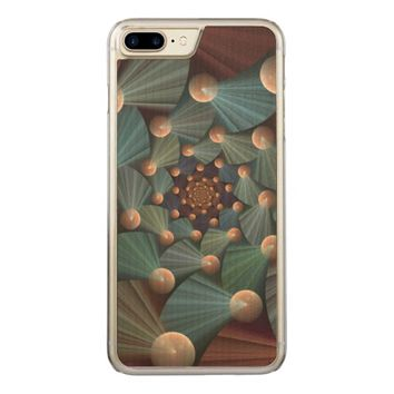 Modern Fractal Art with Depth Pattern Carved iPhone 7 Plus Case