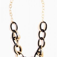 Contrast Link Chain Necklace - JUST ARRIVED