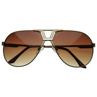 Premium Optical RX Laser Metal Designer Aviator Sunglasses 8366