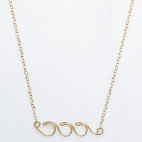 ki-ele Triple Wave Wire Necklace