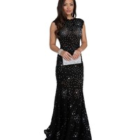 Kenza Black Beaded Prom Dresses
