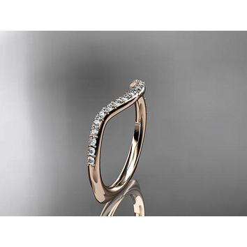 14K Rose Gold Diamond Matching Band to the style VP8225 or VD8225