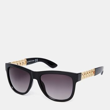 ASOS Cat Eye Sunglasses With Chain Metal Arms