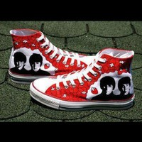 DCCK8NT sale beatles converse shoes hand painted by baconfactory on etsy