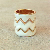 Still Valley Zig Zag Ring [3407] - $16.00 : Vintage Inspired Clothing & Affordable Fall Frocks, deloom   Modern. Vintage. Crafted.
