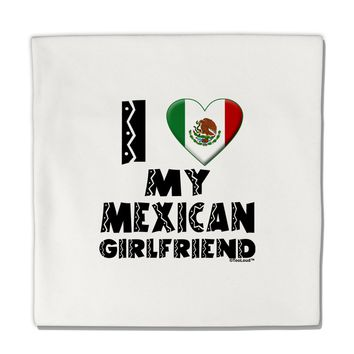 "I Heart My Mexican Girlfriend Micro Fleece 14""x14"" Pillow Sham by TooLoud"