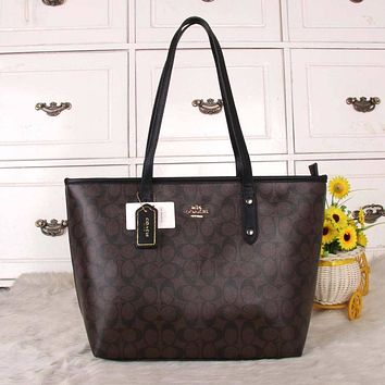 Coach Women Fashion Leather Satchel Bag Shoulder Bag Handbag