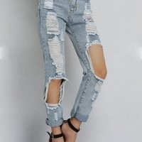 Stella Ripped Boyfriend Jeans from Love, Fashion Struck