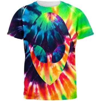 Alien Tie Dye All Over Adult T-Shirt