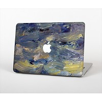 The Blue & Yellow Abstract Oil Painting Skin Set for the Apple MacBook Air 13""