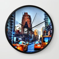 Downtown New York Wall Clock by Haroulita | Society6
