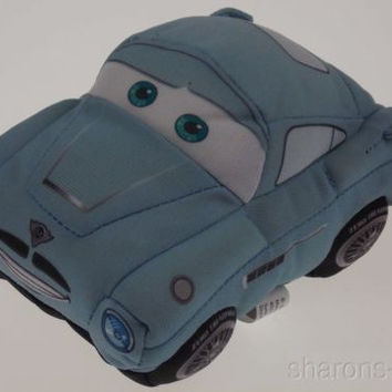 Disney Pixar Cars Crash Ems Finn McMissile Blue Talking Sounds Stuffed Plush Toy