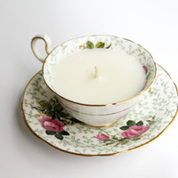 Vintage Tea Cup Candle Gift Set