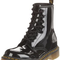 Dr. Martens Women's 1460 Originals Eight-Eye Lace-Up Boot,Black Patent Lamper,7 UK (9 M US Womens)