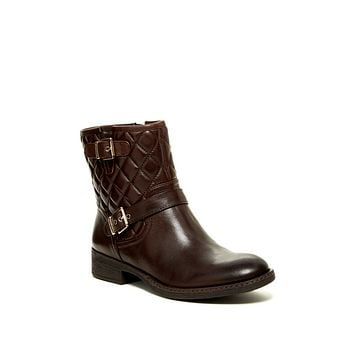 Sarabeth Quilted Leather Motorcycle Ankle Boots
