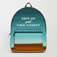 Sky is not the limit Backpack by edrawings38