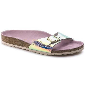 Sale Birkenstock Madrid Leather Ombre Pearl Silver Orchid 1003847 Sandals