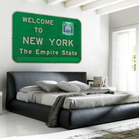 New York State Sign Wall Decal