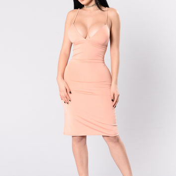Simplicity Is Bliss Dress - Peach