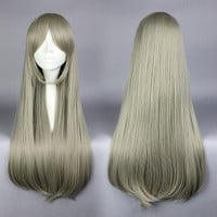 Fancy Women 75cm Anime Yurikuma Arashi Kureha Tsubaki Long Blonde Synthetic Cosplay Wig,Colorful Candy Colored synthetic Hair Extension Hair piece 1pcs WIG-576C