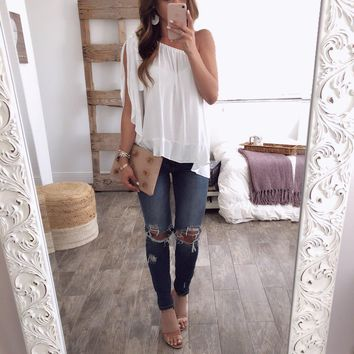 Solid Color One Shoulder Tops Chiffon Ruched Top Shirt Summer Inclined Shoulder Loose Shirt Tops Women Clothes Drop Ship 220151