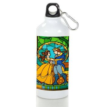Gift Sport Bottles | Beauty And The Beast Stained Glass Aluminum Sport Bottles