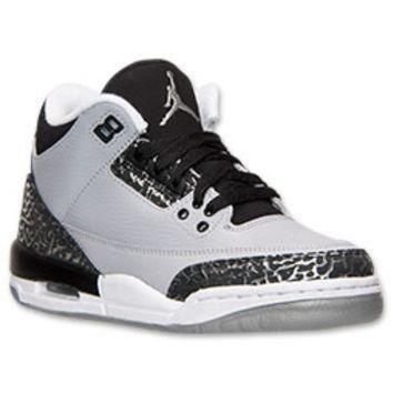 Boys' Grade School Air Jordan Retro 3 Basketball Shoes