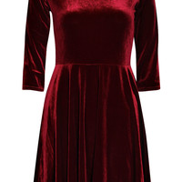 Melissa Velvet Skater Dress