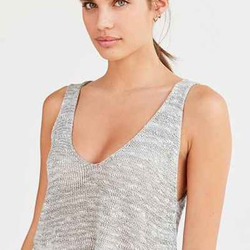 BDG Jessie Deep-V Sweater Tank Top - Urban Outfitters
