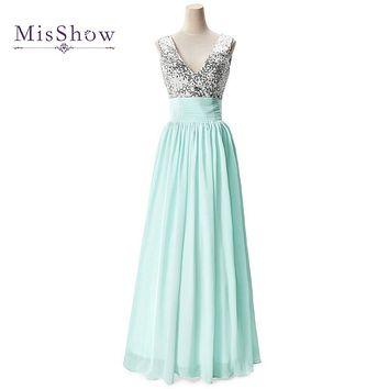 Real Photo Cheap In Stock Red/Champagne/Mint Green Sequin Bridesmaid Dresses Under $50 Wedding Party Dress 2017 Vestido Longo