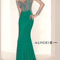 Long Sleeve Winter Formal Gown by Alyce