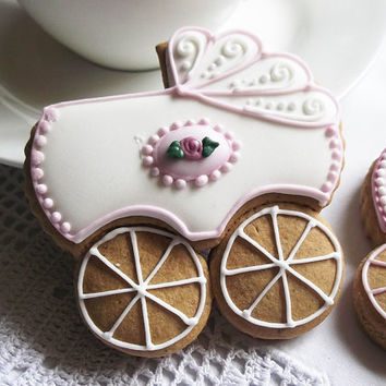 10 Pram Baby Shower Biscuit