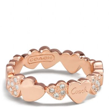 MULTI HEARTS BAND RING