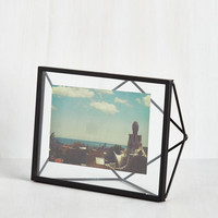 Memorable Dimension Single-Photo Frame in Black by ModCloth