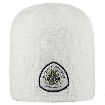 Licensed Pacific Northwest Trail Association Uncuffed Knit Fluff Beanie Top of the World KO_19_1