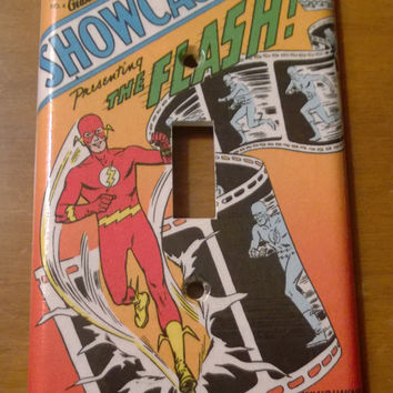 Comic Book superhero light switch cover The Flash