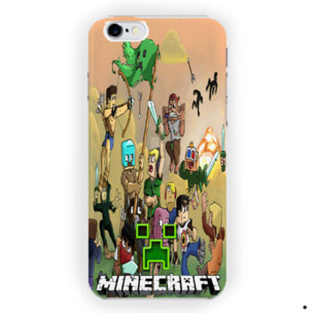 Battle Arena! Minecraft Crepper Cartoon For iPhone 6 / 6 Plus Case