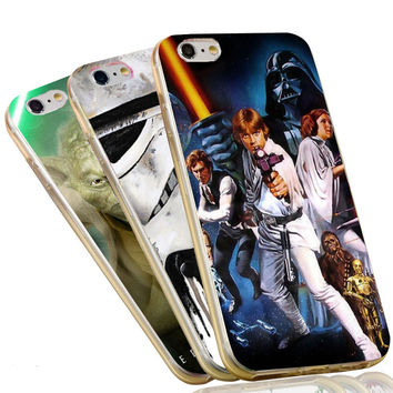 Star Wars Darth Vader Yoda RD2 Stormtroopers Soft Silicone Clear TPU Phone Case Cover for Apple iPhone 7 4 4s 5 5s 5c 6 6s plus