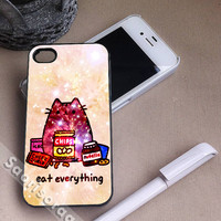 Pusheen The Cat Eat Every Thing for iPhone 4/4s, iPhone 5, 5s, 5c Case, Samsung Galaxy S3, S4 Case