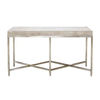 Strand Console Table Natural Gray, Brushed Stainless Steel