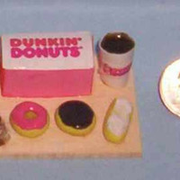 Miniature Dunkin Donuts Food Display Board