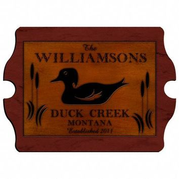 Cabin Series Vintage Sign- Wood Duck