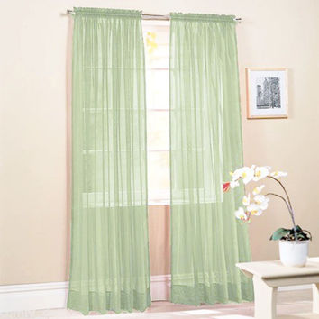 Fashion Tulle Window Screening Blinds Sheer Voile Gauze Curtain for Cafe Living Room Balcony Translucidus Decor D9440