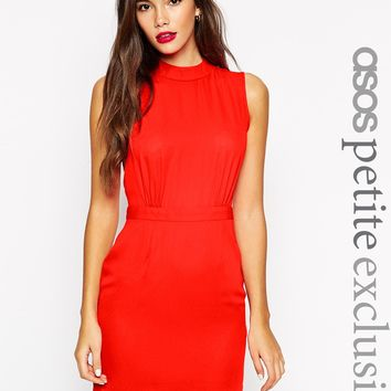 ASOS PETITE Sleeveless Mini Dress with High Neck