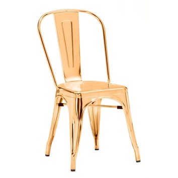 Elio Dining Chair Gold (Set of 2)