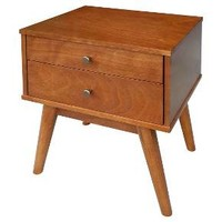 Porter Mid Century Modern End Table Brown - Foremost : Target