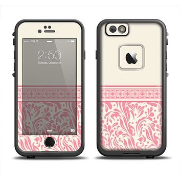 The Pink & Tan Polka Dot Pattern V1 Apple iPhone 6 LifeProof Fre Case Skin Set